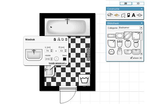 Badkamer ontwerpen webwijzer for Badkamer tekenen 3d
